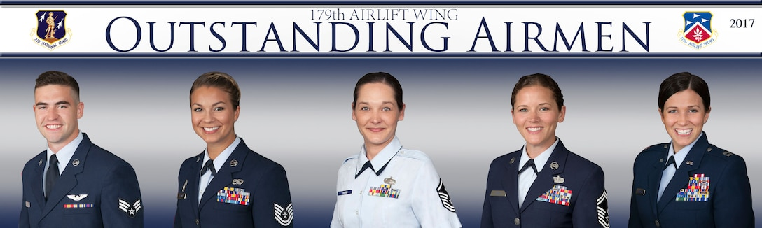 The winners of the 2017 179th Airlift Wing Airman of the Year: