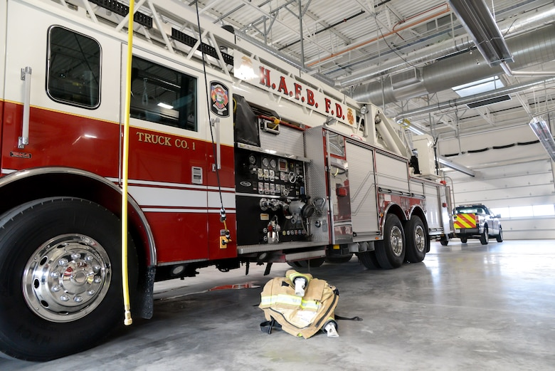 A view inside Hill's new fire station.