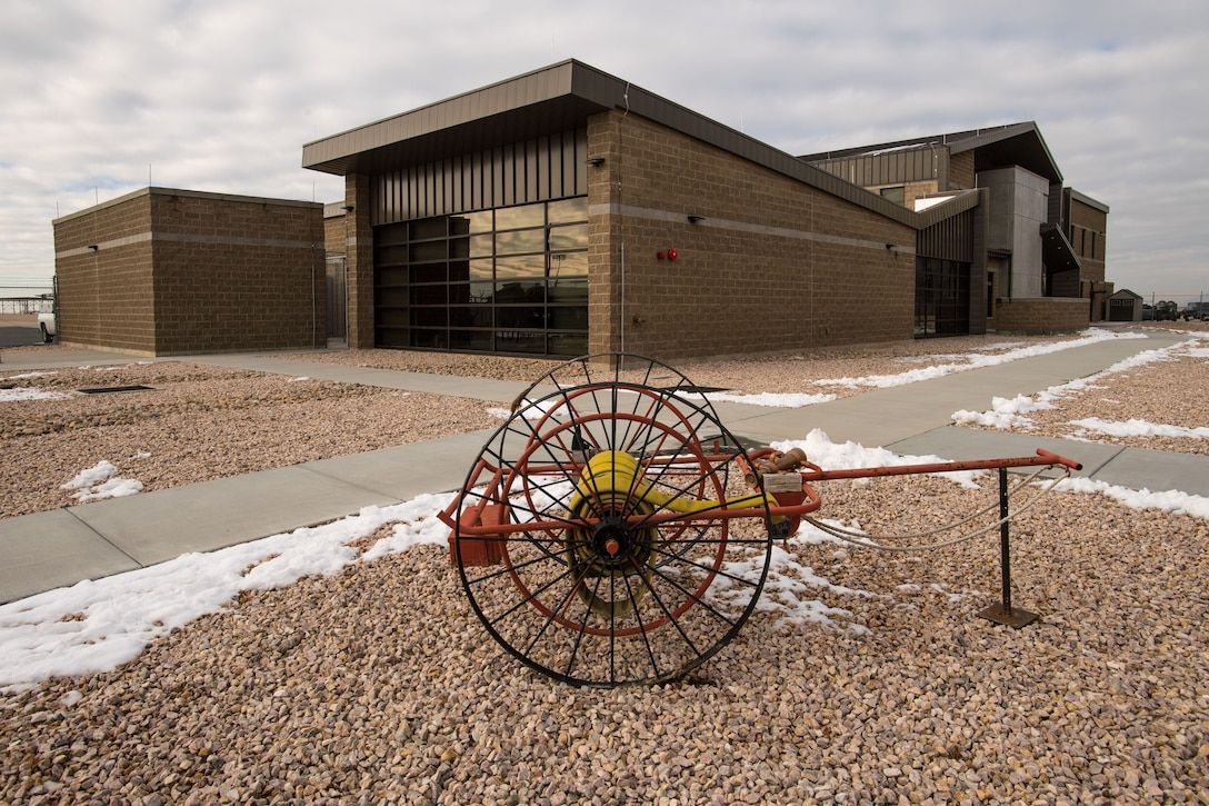 A picture outside the new fires station at Hill Air Force Base.