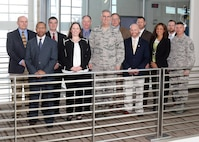U.S. Air Force Gen. John Hyten (center), commander of U.S. Strategic Command (USSTRATCOM), attends a brown-bag lunch with USSTRATCOM Strategic Leadership Fellows Program participants at University of Nebraska Omaha's Mammel Hall, Jan. 24, 2017. The fellows program is designed to develop high-potential civilian leaders in support of USSTRATCOM organizational transformation, broaden mission awareness, and develop leadership skills. USSTRATCOM has global responsibilities assigned through the Unified Command Plan that include strategic deterrence, nuclear operations, space operations, joint electromagnetic spectrum operations, global strike, missile defense, and analysis and targeting.