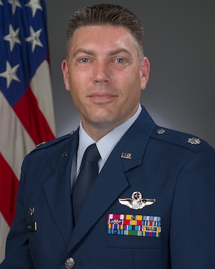 Lt. Col. Travis M. Rowley, official photo, U.S. Air Force
