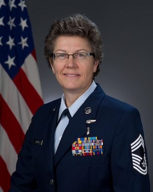 Chief Master Sgt. Laura Nepute, official photo, U.S. Air Force