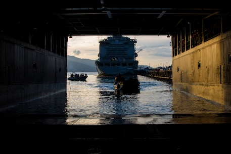 U.S. Marines with Amphibious Assault Company, Combat Assault Battalion, 3rd Marine Division, embark Assault Amphibious Vehicles onto the Philippine Navy's BRP Tarlac (LD 601) during exercise KAMANDAG, Subic Bay, Philippines, October 2, 2017. Bilateral exercises such as KAMANDAG increase the ability of the United States and the Philippines to rapidly respond and work together during real world terrorist and humanitarian crises, in order to accomplish the mission, support the local population and help mitigate human suffering. (U.S. Marine Corps photo by Lance Cpl. Caleb T. Maher