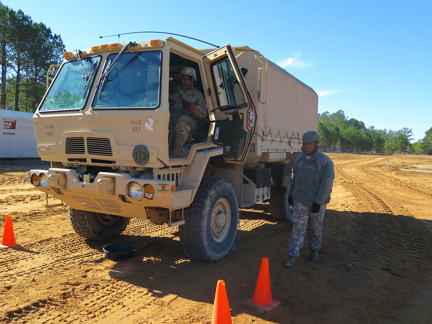 Students learning vehicle skills in SC