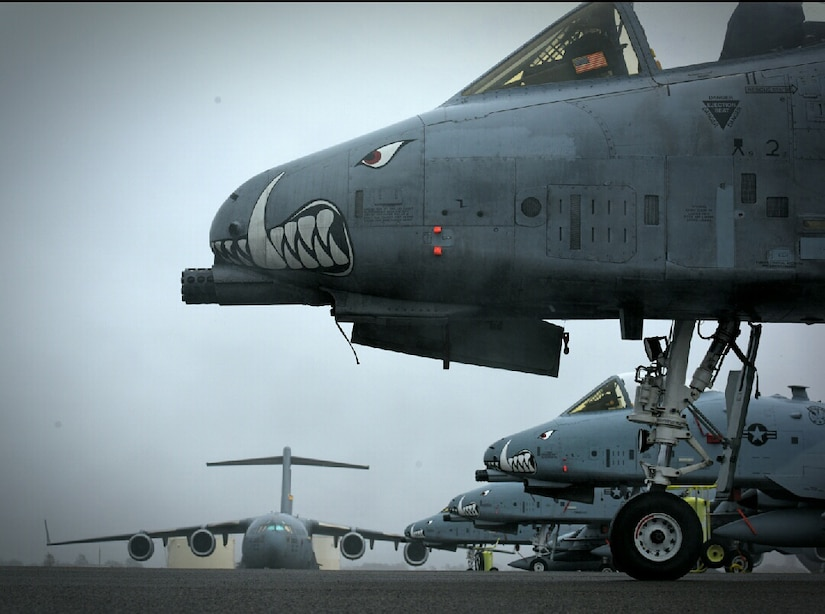 A-10s assigned to the 442nd Fighter Wing at Whiteman Air Force Base, Missouri, make a pit stop at Joint Base Charleston Jan. 10, 2018.