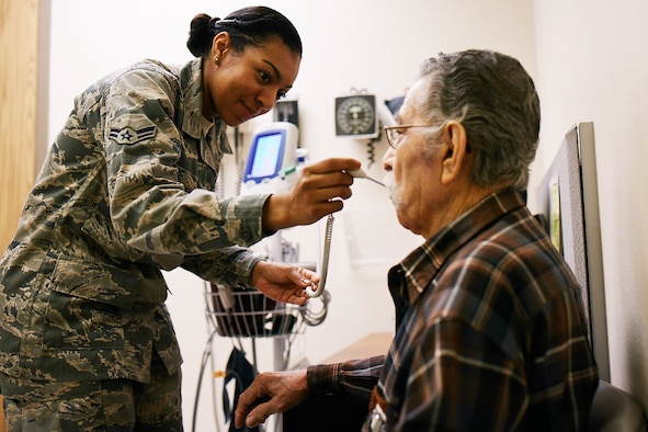 Then Airmen First Class Nicole Moore, a medical technician stationed at Joint Base San Antonio – Lackland, was one of the first responders treating patients after the attack at Bagram Air Base in Afghanistan on Nov 12, 2016. As a recipient of the 2017 Outstanding Airman of the Year award, Moore was recognized for her dedication to the principles of patient-centered Trusted Care. (Courtesy photo)