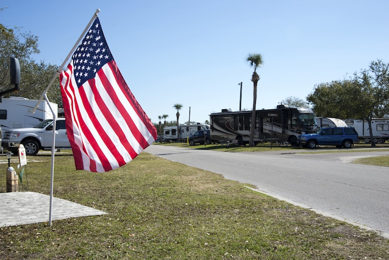 "The family campground, better known as ""FamCamp"", is a community that allows people to temporarily reside within its campgrounds for six month intervals at MacDill Air Force Base, Florida."