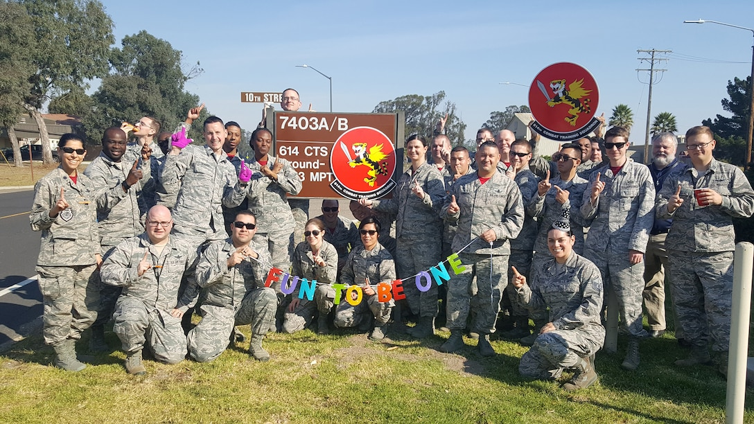"""614th Combat Training Squadron """"Fighting Tigers"""" Celebrate One Year"""