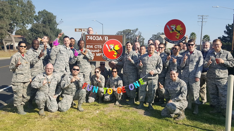 "614th Combat Training Squadron ""Fighting Tigers"" Celebrate One Year"