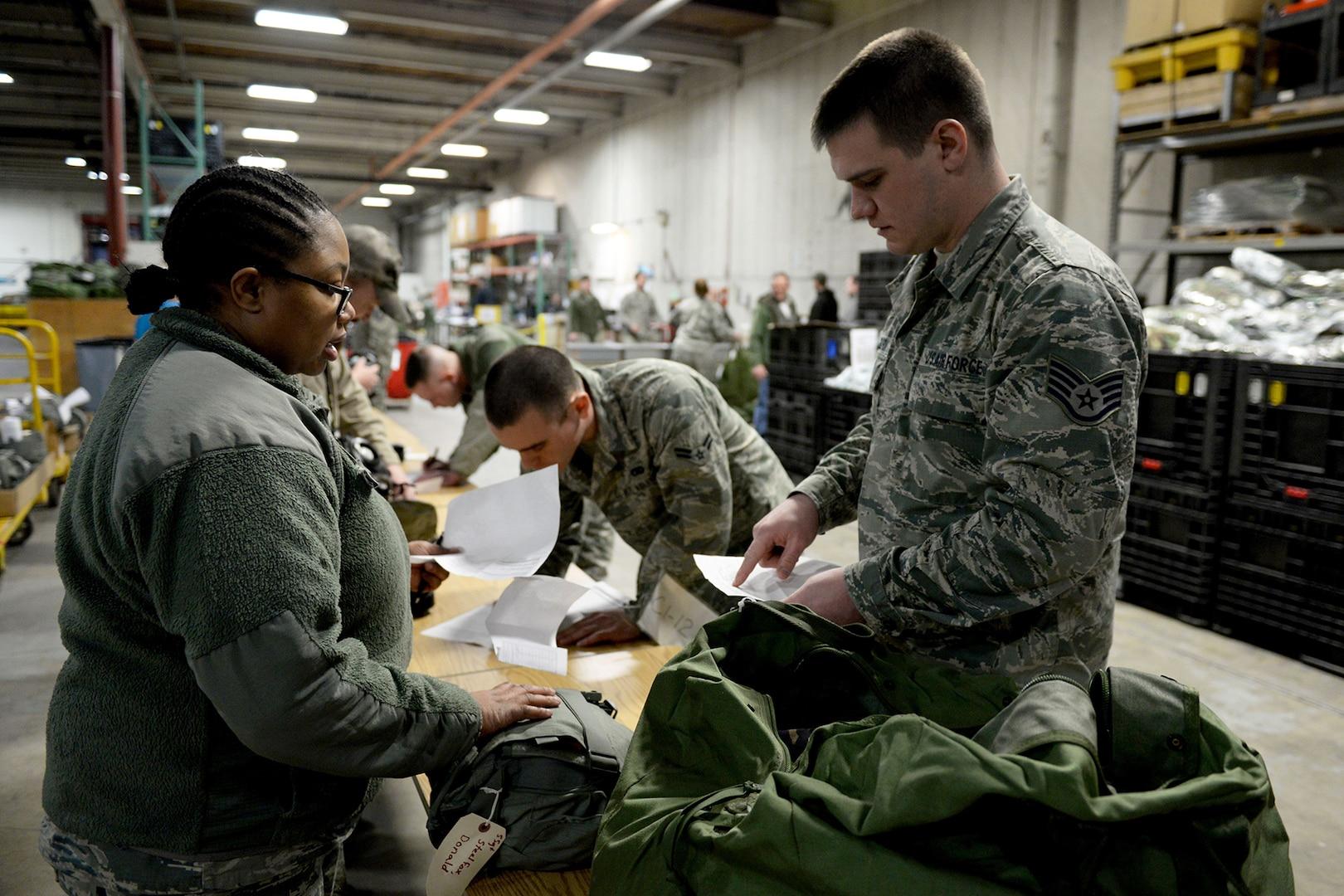 673d LRS Materiel Managment supplies Arctic Warriors