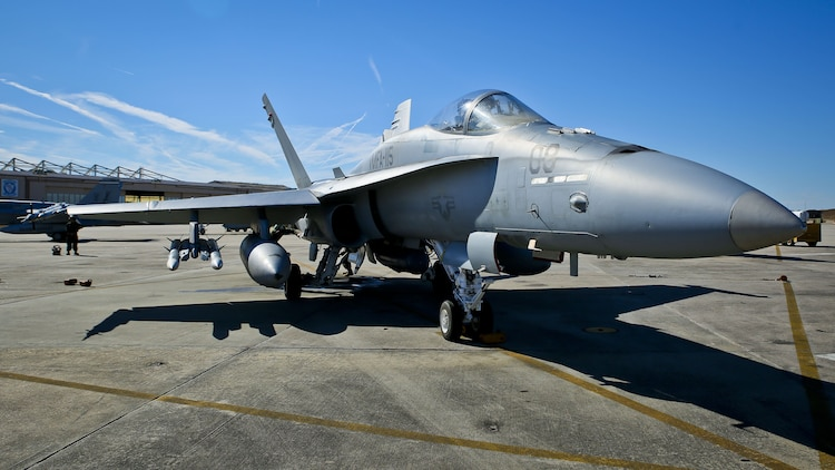 Marines perform pre-flight checks aboard Marine Corps Air Station Beaufort, Jan. 22
