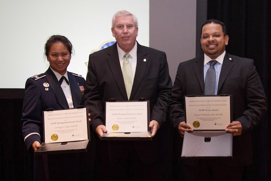 Colonel Gigi Simko, 45th Medical Group commander, was recognized on Jan. 20 with the ACHE Distinguished Service Award.
