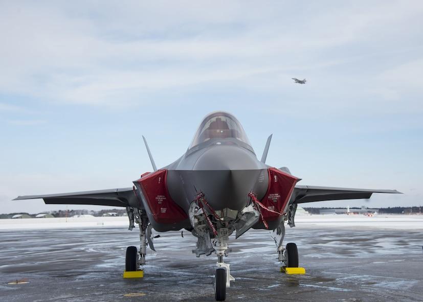 F-35A sits on Misawa AB flightline