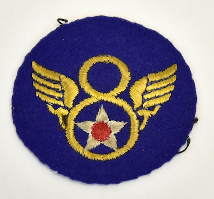 Plans call for this artifact to be displayed near the B-17F Memphis Belle™ as part of the new strategic bombardment exhibit in the WWII Gallery, which opens to the public on May 17, 2018. Memphis Belle waist gunner SSgt E. Scott Miller wore this Eighth Air Force patch. Miller was credited with shooting down an Fw 190 fighter.