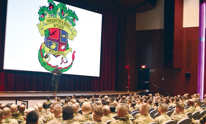 "Headquarters and Service Battalion, nicknamed ""The Beast"", begins 2018 with Back in the Saddle training at Warner Hall Auditorium"