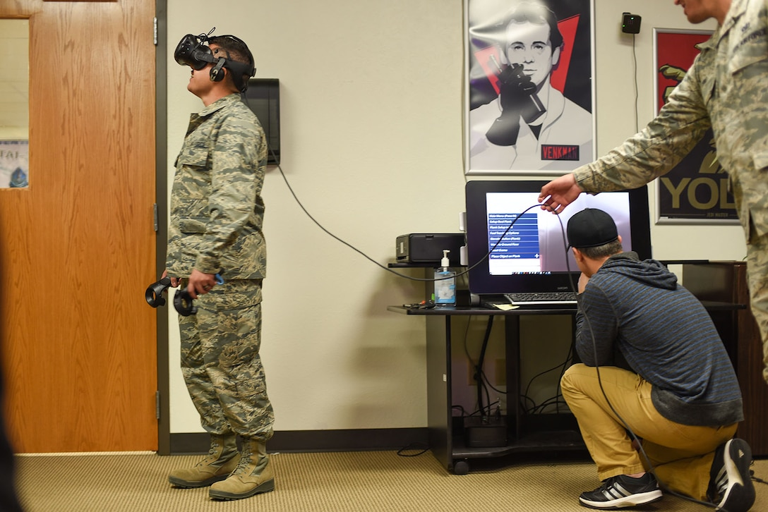 366th TRS Airmen VR simulation