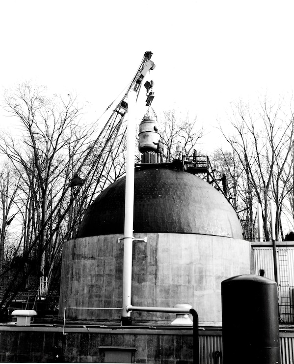 Undated - Appears to be construction and installation of reactor at SM-1. (Photo courtesy of the Office of History)