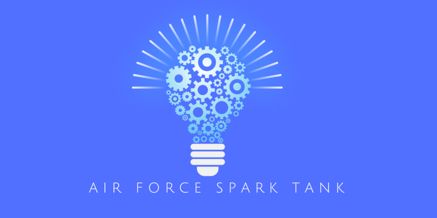 Logo for the Air force Spark Tank competition which solicits innovative cost-cutting ideas from Airmen throughout the Air Force. (Graphic courtesy U.S. Air Force)