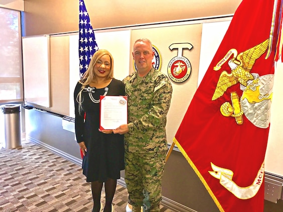Dakeyah McFarlin is a small business advocate for the western region of Marine Corps installations.