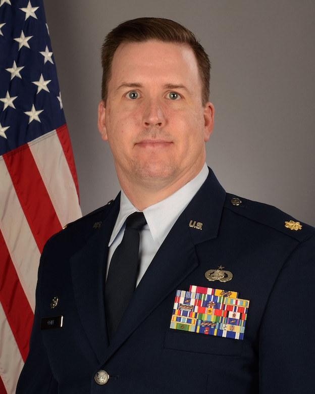 Portrait of U.S. Air Force Maj. Ralph Cole, the 169th Force Support Squadron commander at McEntire Joint National Guard Base, S.C., January 24, 2018.  (U.S. Air National Guard photo by Senior Master Sgt. Edward Snyder)