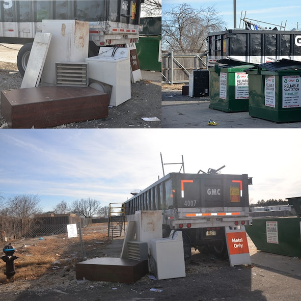 Scott Recycling Center Collage. (U.S. Air Force photo illustration by Alexandria Hearn)