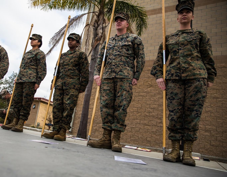 Guidon Test Corporals Course 3-18 1st Marine Logistics Group