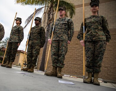 Guidon Test Corporals Course 3-18 1st Marine Logistics Group