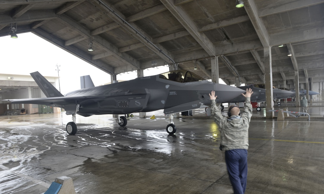 Cloudy With A Chance of Lightning: 34th FS Conducts Routine Training on Kadena