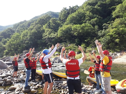 River rafting in South Korea.