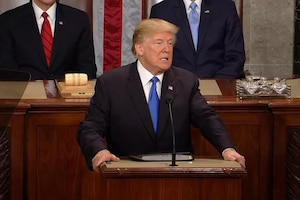 President Donald J. Trump delivers the State of the Union address.