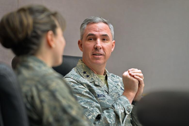 14th AF CC visits Schriever