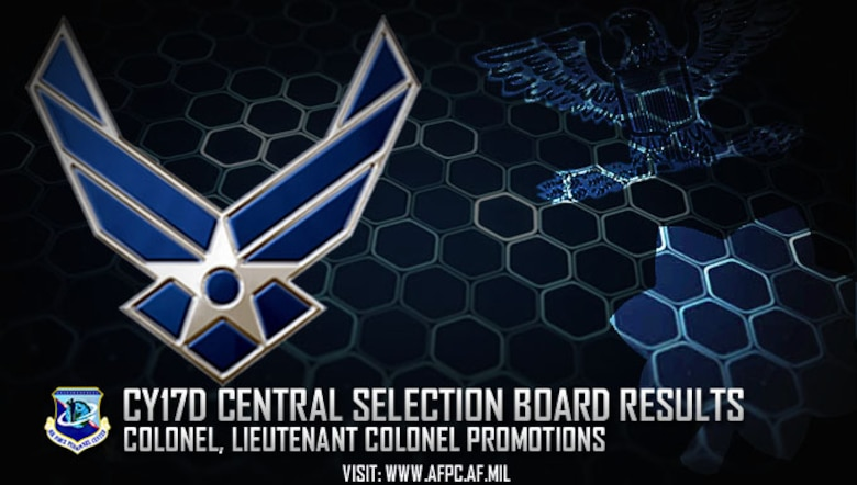 Air Force releases results of CY17D Central Selection Board