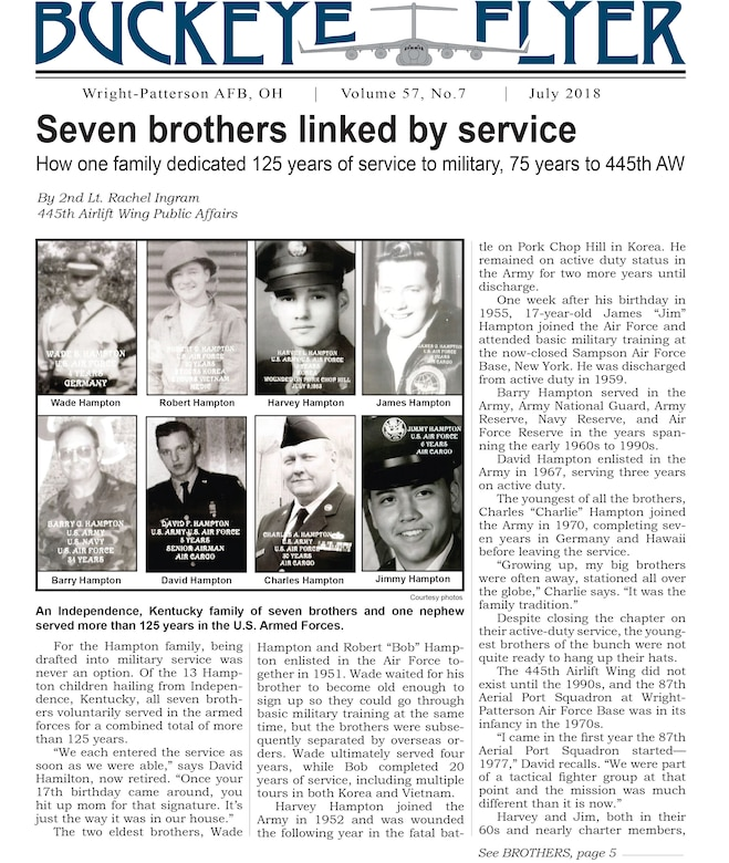 The July 2018 issue of the Buckeye Flyer is now available. The official publication of the 445th Airlift Wing includes eight pages of stories, photos and features pertaining to the 445th Airlift Wing, Air Force Reserve Command and the U.S. Air Force.