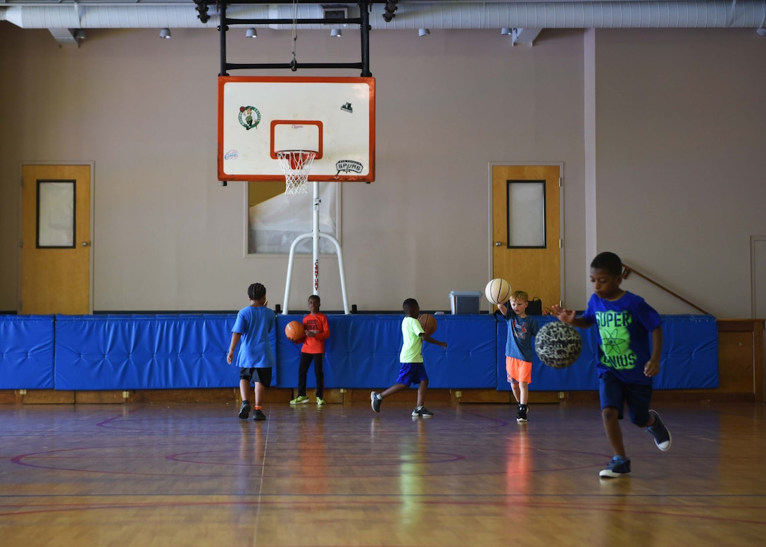 Children play in the Youth Center June 19, 2018, on Columbus Air Force Base, Mississippi. (U.S. Air Force photo by Airman 1st Class Keith Holcomb)