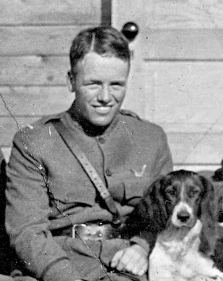 Army Air Service Lt. Quentin Roosevelt, who died when German pilots shot down his plane during World War I.