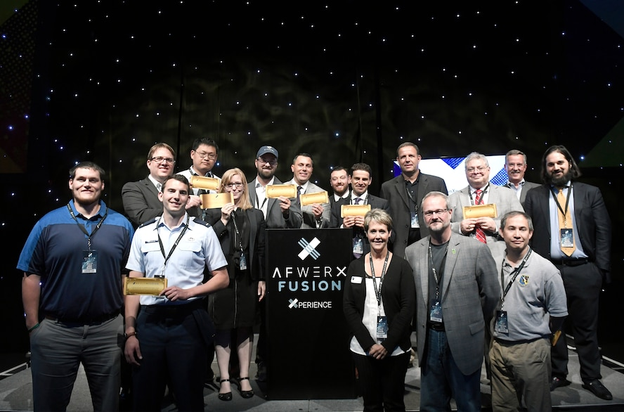 At the AFWERX Fusion Experience event held June 20-21 at AFWERX in Las Vegas, 10 teams, including two from AFRL – the Flexible Body Armor and the On Demand Force Protection Situational Awareness technology submissions, received Fusion Tickets to attend a Fusion Ticket event during the week of July 16 at AFWERX Vegas. Initial startup funding, in the range of $150,000, is up for grabs to further assess the teams' technology at the Fusion Ticket event. (AFWERX photo/Bobby Mack)