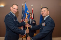 U.S. Air Force Col. Robert Heil assumed command of the 422nd Medical Squadron, at RAF Croughton, United Kingdom, June 28, 2018. (U.S. Air Force photo by Senior Airman Chase Sousa)