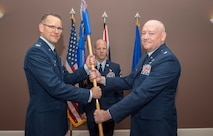 U.S. Air Force Lt. Col. Mathew Ramstack assumed command of the 422 Air Base Group, at RAF Croughton, United Kingdom, July 2, 2018. (U.S. Air Force photo by Senior Airman Chase Sousa)