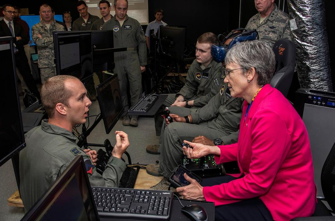 SECAF talks Air Force innovation across JBSA, Austin