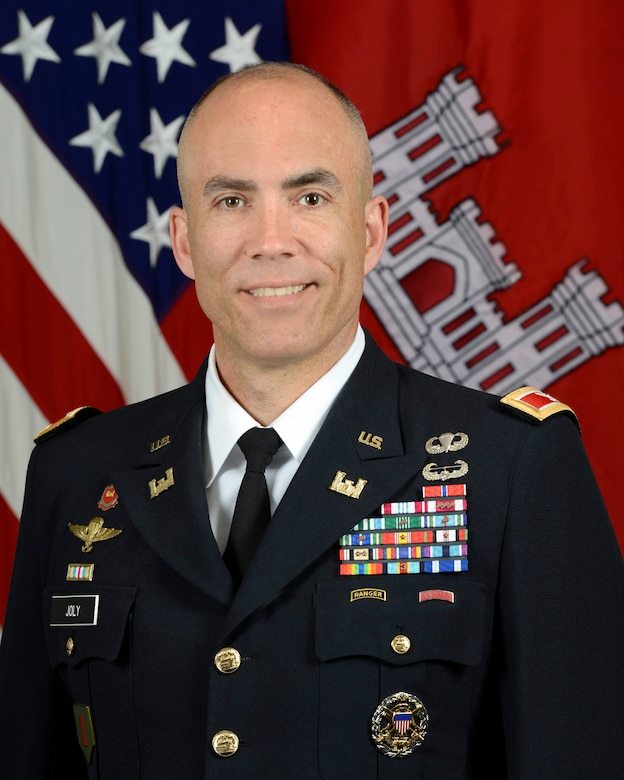 Colonel Sebastien Joly assumed command of the United States Army Corps of Engineers (USACE), Mobile District, in June 2018 as the 53rd Commander.