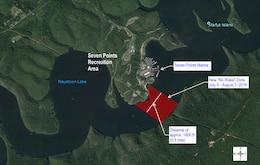 Raystown Lake No Wake Zone Map