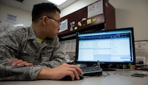 1st Lt Timothy Kim, 11th Civil Engineer Squadron installation Tririga information owner, poses for a photo while working with the next generation of information technology system, Tririga, inside the 11th CES headquarters building at Joint Base Andrews, Md., June 9, 2016.