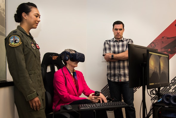 Secretary of the Air Force Heather Wilson visited AFWERX-Austin June 27, 2018. During her visit to Texas, Wilson learned more about the mission at AFWERX-Austin, Pilot Training Next, 12th Flying Training Wing at Joint Base San Antonio-Randolph and Basic Military Training Wing at JBSA-Lackland. (U.S. Air Force photo by Senior Airman Gwendalyn Smith)