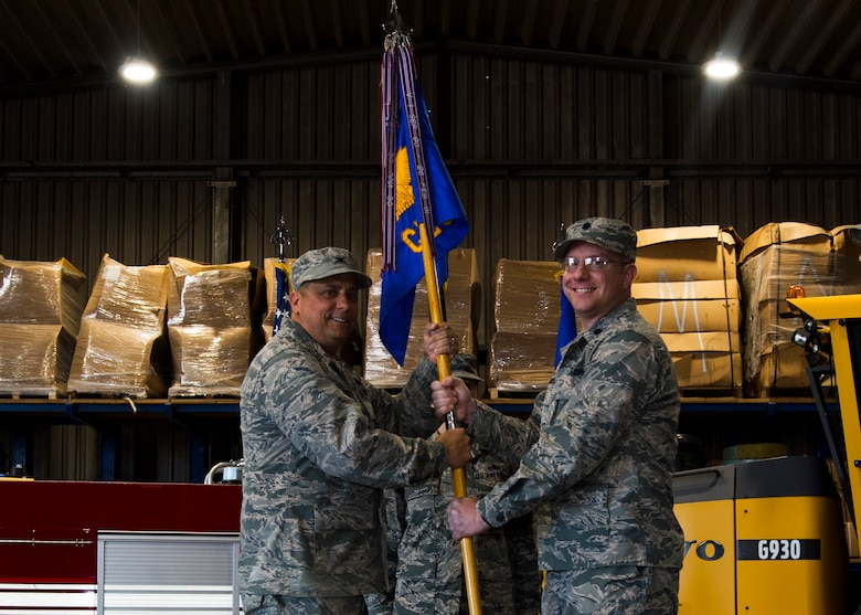 52nd Civil Engineer Squadron change of command ceremony