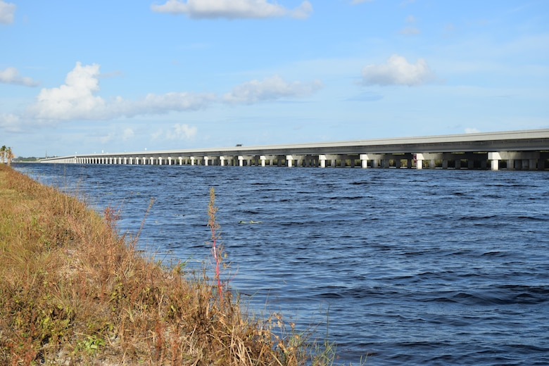 A 2017 photo of the L-29 Canal and Tamiami Trail bridge west of Miami. The U.S. Army Corps of Engineers completed construction on the bridge in 2013 as part of the Modified Water Deliveries to Everglades National Park Project.
