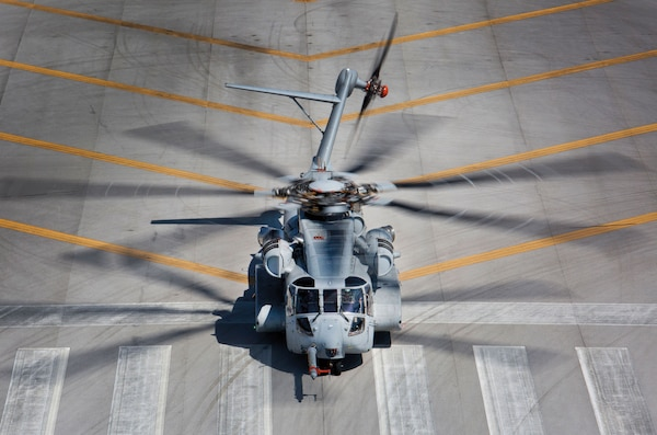 Scheduled to completely replace CH-53E Super Stallion by 2030, CH-53K King Stallion lands after test flight in West Palm Beach, Florida, March 22, 2017 (U.S. Marine Corps/Molly Hampton)