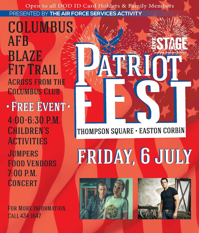 Columbus AFB to celebrate Independent Day with Patriot Fest