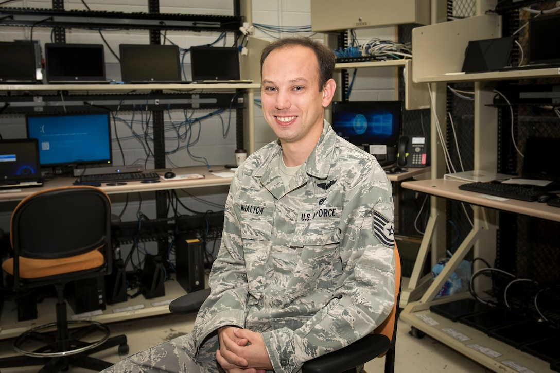 Tech. Sgt. Alex Whalton is a client systems technician for the 167th Communications Flight and the 167th Airlift Wing's Airman Spotlight for July 2018. (U.S. Air National Guard photo by Senior Master Sgt. Emily Beightol-Deyerle)