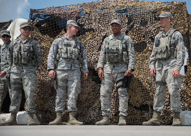 INCIRLIK AIR BASE, Turkey – U.S. Air Force 39th Security Forces Squadron contingency members guard a flightline access point at Incirlik Air Base, Turkey, June 21, 2018.