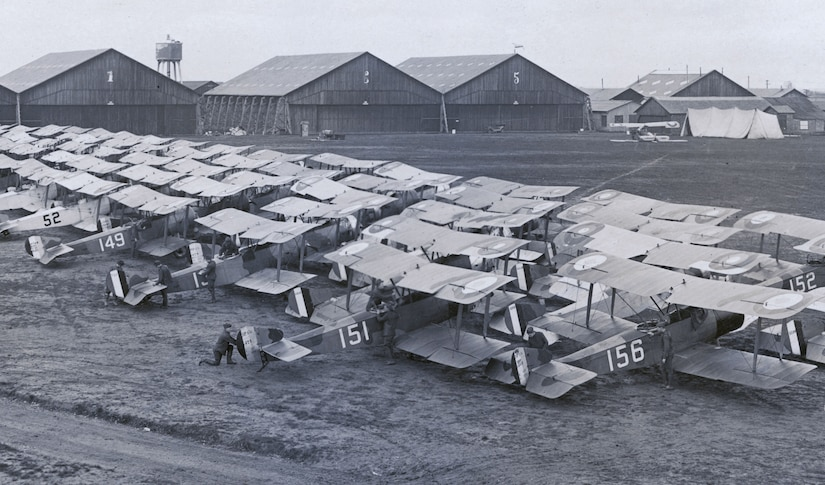 """The Ships,"" American Expeditionary Forces, Second Air Instructional Center, Tours Aerodrome, France, late 1918 (Lester F. Kirchner Collection, U.S. Army Air Service)"
